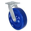 "8""X 2"" Blue Solid Polyurethane Wheel 