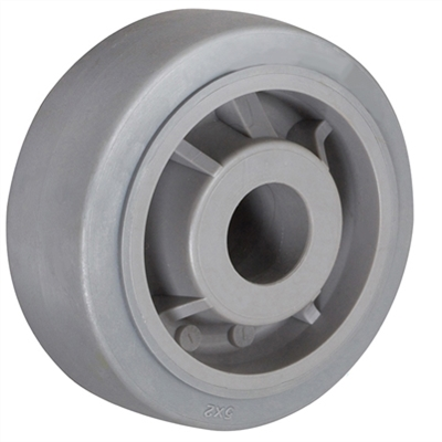 "4"" X 2"" GRAY THERMO RUBBER (NON MARKING) WHEEL - 350 LBS CAPACITY"