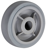 "6"" X 2"" GRAY THERMO RUBBER (NON MARKING) WHEEL - 500 LBS CAPACITY"
