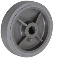 "8"" X 2"" GRAY THERMO RUBBER (NON MARKING) WHEEL - 600 LBS CAPACITY"