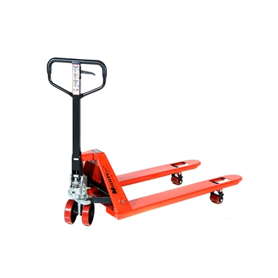 "Standard Pallet Jack - 5,500 lbs Capacity - Fork Size - 27"" x 48"""