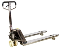 "ML55SS Stainless Steel Pallet Jacks | 50"" Height 27"" width, 48"" Length 