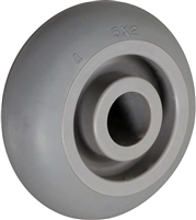 "5"" X 2"" CROWNED GRAY THERMO RUBBER (NON MARKING) WHEEL - 400 LBS CAPACITY"