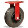 "Hamilton Cush-N-Aire Rigid Caster with 8"" Pneumatic Air-Filled Tire with 17mm Sealed Precision Ball Bearing - 330 lbs Capacity"