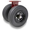"Hamilton Pneumatic Dual-Wheel Rigid Caster with 21"" Pneumatic Air-Filled Tire with 1 1/4"" Precision Tapered Roller Bearings"