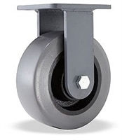 "Hamilton Champion Rigid Caster with 6"" x 3"" DuraGlide 1"" thick Polyurethane (95A) on Cast Iron Wheel with 3/4"" Sealed Precision Ball Bearings"