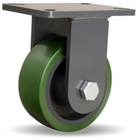 "Hamilton Champion Rigid Caster with 6"" x 2 1/2"" Duralast® Polyurethane (95A) on Cast Iron Wheel with 3/4"" Precision Ball Bearing"