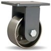 "Hamilton Champion Rigid Caster with 6"" x 2 1/2"" Forged Steel Wheel with 1"" Straight Roller Bearing"