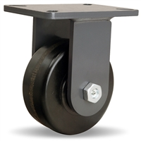 "Hamilton Champion Rigid Caster with 6"" x 2 1/2"" Plastex Phenolic Wheel with 1"" Straight Roller Bearing"