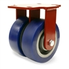 "Hamilton Heavy Service Dual-Wheel Rigid Caster with 6"" x 2"" Ergo-Glide XT Polyurethane (85A) on Cast Iron Wheels with 1/2"" Sealed Precision Ball Bearings - 2,300 lbs Capacity"