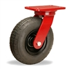"Hamilton Cush-N-Aire Swivel Caster with 8"" Pneumatic Air-Filled Tire with 17mm Sealed Precision Ball Bearing - 330 lbs Capacity"