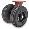 "Hamilton Pneumatic Dual-Wheel Swivel Caster with 8"" Pneumatic Air-Filled Tire with 3/4"" Straight Roller Bearing"