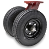 "Hamilton Pneumatic Dual-Wheel Swivel Caster with 16"" Pneumatic Air-Filled Tire with 1"" Precision Tapered Roller Bearings"