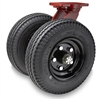 "Hamilton Pneumatic Dual-Wheel Swivel Caster with 18"" Pneumatic Air-Filled Tire with 1 1/4"" Precision Tapered Roller Bearings"