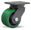"Hamilton Champion Swivel Caster with 6"" x 3"" Duralast® Polyurethane (95A) on Cast Iron Wheel with 3/4"" Sealed Precision Ball Bearings"