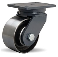 "Hamilton Champion Swivel Caster with 6"" x 3"" Forged Steel Wheel with 3/4"" Precision Ball Bearing"