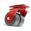 "Hamilton Extra Heavy Duty Dual-Wheel Swivel Caster with 6"" x 3"" Nylastâ""¢ High Performance Cast Nylon Wheels with 3/4"" Sealed Precision Ball Bearings - 7,000 lbs Capacity"