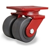 "Hamilton Heavy Service Dual-Wheel Swivel Caster with 4"" x 2"" Nylastâ""¢ High Performance Cast Nylon Wheels with 1/2"" Sealed Precision Ball Bearings - 3,000 LBS Capacity"