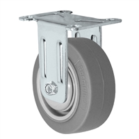 "3"" Stainless Steel Rigid Caster - Non-Marking Thermoplastic Rubber Wheel - 225 lbs Capacity Each"