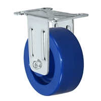 "3"" X 1.25"" Solid Polyurethane Wheel - Stainless Rigid Caster 300 lbs Capacity"