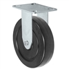 "5"" X 1.25"" Stainless Rigid Caster with Hard Rubber Wheel - 350 lbs Capacity"