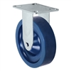 "5"" X 1.25"" Solid Polyurethane Wheel - Stainless Rigid Caster 350 lbs Capacity"