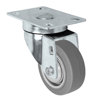 "3"" Stainless Steel Swivel Caster - Non-Marking Thermoplastic Rubber Wheel - 225 lbs Capacity Each"