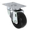 "3"" X 1.25"" Stainless Steel Swivel Caster with Hard Rubber Wheel - 300 lbs Capacity"