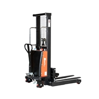 "Semi-Electric Stacker 63″ to 137"" Lift Height -  2,200 lbs Capacity"