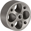 "3x1-1/4"" GRAY IRON SEMI STEEL WHEEL - 250 LBS CAPACITY"