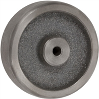 "4x1-1/4"" GRAY IRON SEMI STEEL WHEEL - 250 LBS CAPACITY"