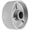 "5"" X 2"" GRAY IRON SEMI STEEL WHEEL - 1,000 LBS CAPACITY"