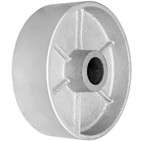 "6"" X 2"" GRAY IRON SEMI STEEL WHEEL - 1,000 LBS CAPACITY"