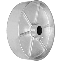 "8"" X 2"" GRAY IRON SEMI STEEL WHEEL - 1,400 LBS CAPACITY"