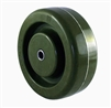"4"" x 1 1/2"" Heatmaster High Temp Green Epoxy Wheel - 500 lbs Capacity"