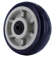 6″ X 2″ Blue on Tan A98 TPU Crown Tread Medium/Heavy Duty Wheel with 1/2 QuadX Dual Precision Bearing.