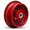 "Hamilton Ductile Iron Single Flanged Track Wheel 7-7/8"" Diameter x 2-1/4"" Face x 3-1/4"" Hub length with 1-1/4"" Precision Tapered Roller Bearing"