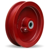 "Hamilton Cast Iron Double Flanged Track Wheel 9-1/4"" Diameter x 1-1/2"" Face x 3-1/4"" Hub length with 2-1/4"" Plain Bore"