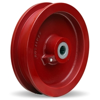 "Hamilton Cast Iron Double Flanged Track Wheel 9-1/4"" Diameter x 1-1/2"" Face x 3-1/4"" Hub length with 1-1/2"" Plain Bore"