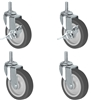 Wire Shelving Stem Caster Set