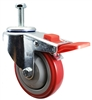 "4"" X 1-1/4"" Total Locking Swivel Stem Caster 