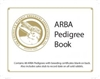 ARBA Pedigree Book