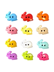 Plastic Colorful  Bunny Buttons