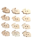 Wood Bunny Buttons