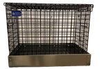 1 Hole Black Vinyl Coat Small Animal Transport Cage