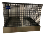 2 Hole Black Vinyl Coat Small Animal Transport Cage