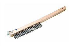 "13 1/2"" Stainless Steel Wire Brush with Scraper"