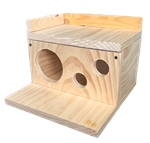 Small Animal Kiln Dried Pine Townhouse