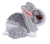 Grey Bunny Embroidery Patch