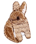 Brown Bunny Embroidery Patch